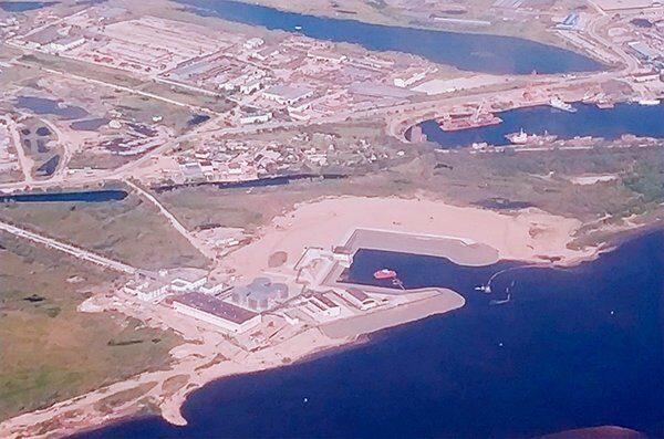 Снимок из космоса на водоочистные сооружения